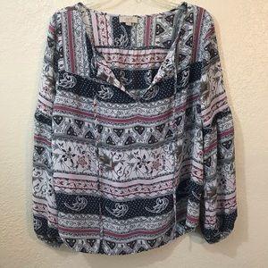 Loft long sleeves shirt size M